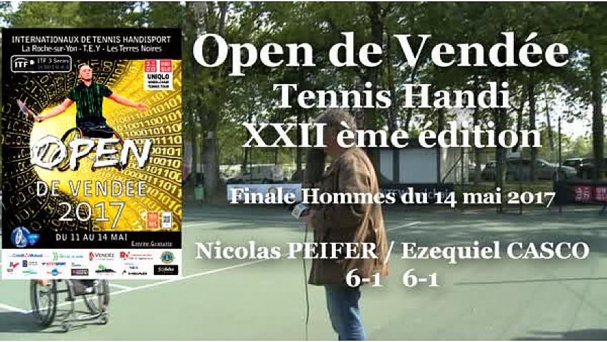Nicolas PEIFER a remporté l'Open de Vendée de Tennis Handi le 14 mai 2017 à la Roche-sur-Yon.  @FFTennis