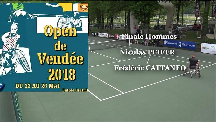 Nicolas PEIFER a gagné l'OPEN de Vendée Tennis Fauteuil 2018 face à Frédéric CATTANEO @Nicolas_Peifer #OpenVendée #handisport